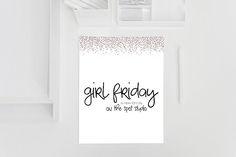 Girl Friday by OnTheSpotStudio on Creative Market Cute Fonts, Pretty Fonts, Beautiful Fonts, All Fonts, Script Fonts, Slab Serif, Wedding Fonts, Retro Font, Vintage Fonts