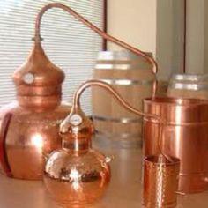 copper whiskey still.