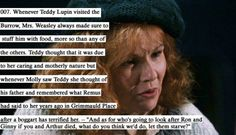 """Molly Weasley from HP feeding up Teddy Tonks because of what Remus said about her kids. """"What do you think we'd do, let them starve? Headcanon Harry Potter, Harry Potter Fandom, Harry Potter Memes, Teddy Lupin, Must Be A Weasley, Ron Weasley, Harry Potter Love, Harry Potter Universal, Lupin Harry Potter"""
