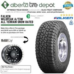 LT 265/70R17 E Falken WildPeak A/T AT3W - 10PR 3PMS Rubber Industry, Falken Tires, Truck Tyres, Gift Ideas
