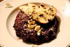 Kookos-mustariisivanukas // Coconut black rice pudding  http://trainingdrama.blogspot.fi/2014/12/kookos-mustariisi-vanukas.html