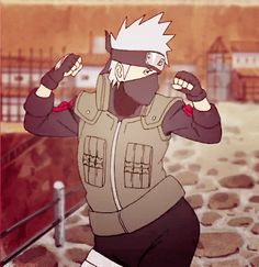 best gif of all time! kakashi gif
