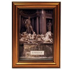 Lawrence Frames Antique Gold Wood 4x6 Picture Frame - Classic Design