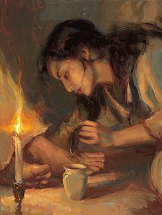 Mary washing the feet of Jesus with her hair via Yongsung Kim Biblical Art & Jesus Christ Catholic Art, Religious Art, Art Prophétique, Braut Christi, Mary Of Bethany, Marie Madeleine, Figurative Kunst, Jesus Art, Prophetic Art