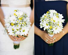 Gorgeous grocery store wedding bouquets - hand tied with burlap | photos by www.rebeccawatkins.com