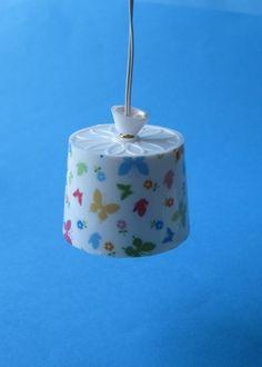 Hängelampe Schmetterlinge Schirm Puppenhaus Dekorationen Miniaturen