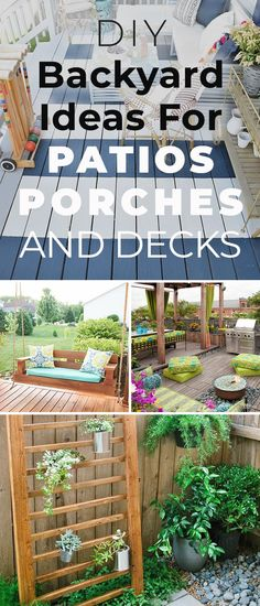 12 DIY Backyard Ideas for Patios, Porches and Decks! • Check out this post for lots of great patio, porch and deck projects and tutorials! #DIYbackyardideas #patiosandporches #patioideas #frontporchideas #backyarddecks #DIYpatioideas #DIYporchideas #DIYbackyardprojects