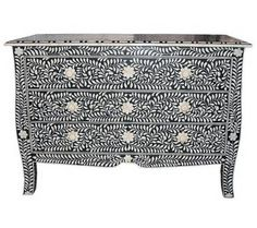 Surrealz Mother of Pearl and Bone Inlay Sideboard