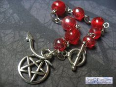 Supernatural Demons Rosary Bead Style Link Bracelet in by AngelQ, $12.95