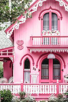 Fairytale House, Martha's Vineyard, Cute House, Pink Houses, Barbie Dream, House Goals, Victorian Homes, Victorian Cottage, My Dream Home