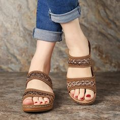 e4d34b691a903 LOSTISY Handmade Stitching Hollow Casual Comfy Sandals - Banggood Mobile  Casual Shoes