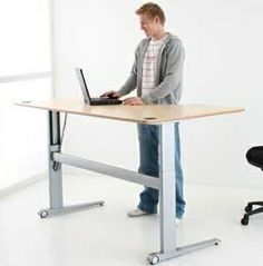 Sit Stand Desks - Product Page: http://www.genesys-uk.com/Electric-Sit-Stand-Desks.Html  Genesys Office Furniture - Home Page: http://www.genesys-uk.com  Why use a Sit Stand Desk?  The main reason is that changing your working position regularly, helps to prevent back problems, so an adjustable Sit Stand Desk is ideal for this.