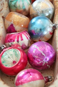 I love vintage ornaments