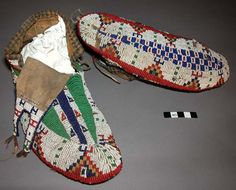 Sioux beaded moccasins, 19th century.