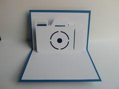 Pop-Up-Karten - Pop up Karte - Digitalkamera - Fotoapparat - ein Designerstück von Bastel-Preussin bei DaWanda