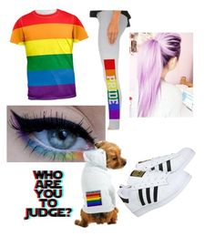 """Gay Pride❤️"" by skylynn-stephens on Polyvore featuring beauty, Hartford and adidas"