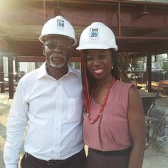 Happy Daddy Day! Celebrating all Fathers & Husbands. Loads of love to my papa here on earth. Here's a pict taken at his latest project on Victoria Island in Lagos Nigeria - Architecture Design & Construction of Nissan Showroom (Multi-levels)