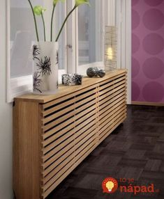 How to style up your Central Heating - Love Chic Living Modern radiator cover Modern Radiator Cover, Radiator Covers Ikea, Radiator Shelf, Radiator Heater Covers, Baseboard Radiator, Home Radiators, Baseboard Heater Covers, Wall Heater Cover, Baseboard Heaters