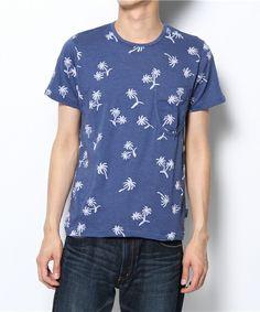 Paul Smith JEANS(ポールスミスジーンズ)のPALM-TREE INTARSIA POCKET T-SHIRTS(Tシャツ・カットソー)|ブルー系その他