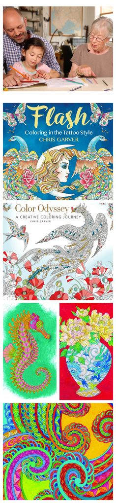 A conversation with Miami Ink tattoo artist Chris Garver about his illustrations in his latest adult coloring book, Flash | National Adult Coloring Book Day | Free Printables