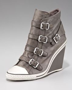 High-Top Wedge Sneaker - Neiman Marcus <3 <3