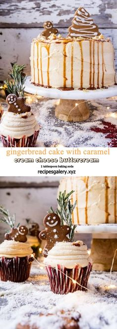 GINGERBREAD CAKE WITH CARAMEL CREAM CHEESE BUTTERCREAM