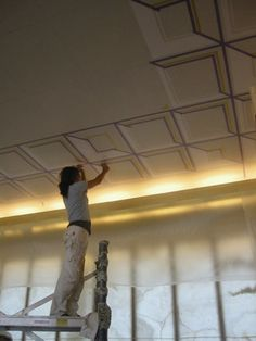 """WORK IN PROGRESS on """"Aerial Insectivores"""", a new 60 M² painted ceiling for the boardroom of a Cees Dam designed office-building in the Netherlands - Peter Korver 