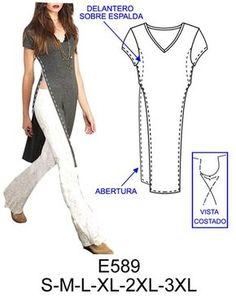Spanish sewing pattern website.