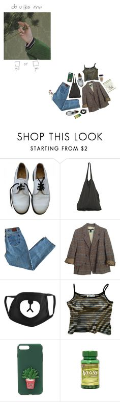 """~ am i enough ~"" by ch-ass-idy ❤ liked on Polyvore featuring Dr. Martens, Laneus and Marc by Marc Jacobs"
