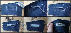 Как сделать джинсы потёртыми и с дырками мастер класс