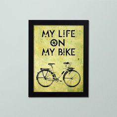Quadro Decorativo – My life on my bike - Decor Quadros - decore com arte!