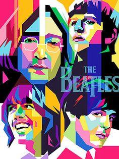 The Beatles on WPAP by Ahmad Nusyirwan poster Poster Dos Beatles, Les Beatles, Beatles Art, Beatles Guitar, Pop Art Portraits, Rock Posters, Pop Art Posters, Ringo Starr, Fan Art