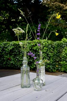 Outdoor wild flowers   Styling   Tuinfeest Flower Power, Glass Vase, Flowers, Royal Icing Flowers, Flower, Florals, Floral, Blossoms