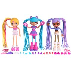 """This mix and match """"constructible"""" doll ($13) makes changing up Betty Spaghetty's hair and clothes easy for..."""