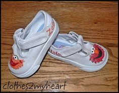ca34dfec225 Custom PINK Elmo Sesame Street Shoes Toddler 2-6 on Etsy