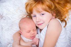 sesja noworodkowa z siostrą :)