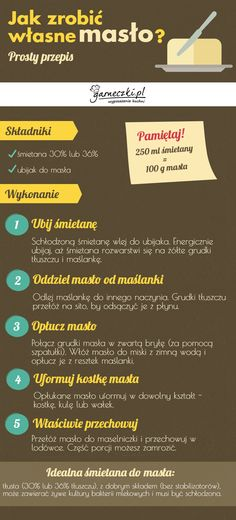 Jak zrobić domowe masło - infografika Blog, Recipes, Recipies, Blogging, Ripped Recipes, Cooking Recipes, Medical Prescription, Recipe