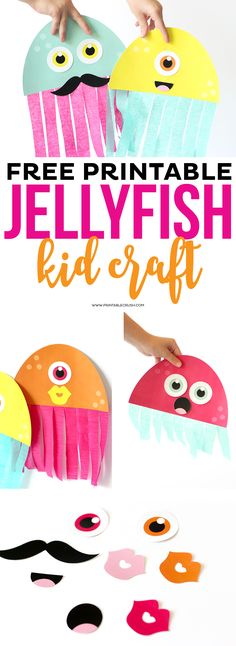 This Printable Jellyfish Kid Craft is simply ADORABLE and your kids will love creating their own jellyfish!