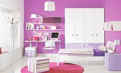 best modern bedroom designs for teenage girls in pink and white - Paulinas Designs