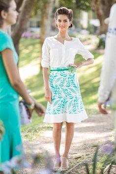 Green Lace Kidman Skirt by Shabby Apple