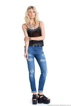 Moda jeans Kevingston Mujer primavera verano 2016.