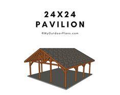 Shelter Plan/Shelter Pavilion plan/patio shelter plan/roofed   Etsy Wooden Swing Set Plans, Wood Deck Plans, Carport Plans, Patio Plans, Wooden Swings, Pergola Plans, Garage Plans, Pergola Ideas, Above And Beyond