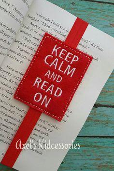 Keep Calm and Read On Bookmark - Elastic Bookmark