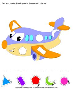 Kindergarten Art and Craft Activities. Cut and paste the shapes to complete the picture. Color Activities For Toddlers, Preschool Colors, Preschool Learning Activities, Preschool Worksheets, Preschool Activities, Transportation Theme Preschool, Teaching Shapes, Kids Education, Kindergarten Art