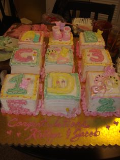 Baby shower cake. Such fun and very sweet!