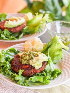 6 ingredient vegan chipotle black bean veggie burgers make for the perfect 30 minute weeknight meatless meal. These veggie burgers are high in protein, fiber, vitamin C and iron, all while coming in at 260 calories per serving. Add your favorite toppings and wrap up in a lettuce leaf or eat with bread.