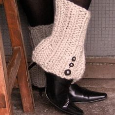 Legwarmers with Spat Style Buttons