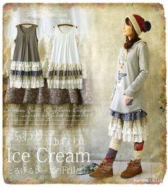 New Japanese Woman Retro Vintage Sweet Lolita Mori Girl Style Lace Basis Dress #NEW #Casual