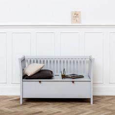 small grey bench