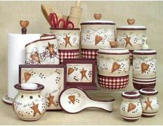 hearts and stars kitchen collection 1000 images about kitchen on primitives 23918